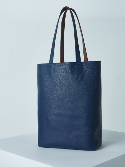 Shopper Bag - Deep Blue / Yukon Brown