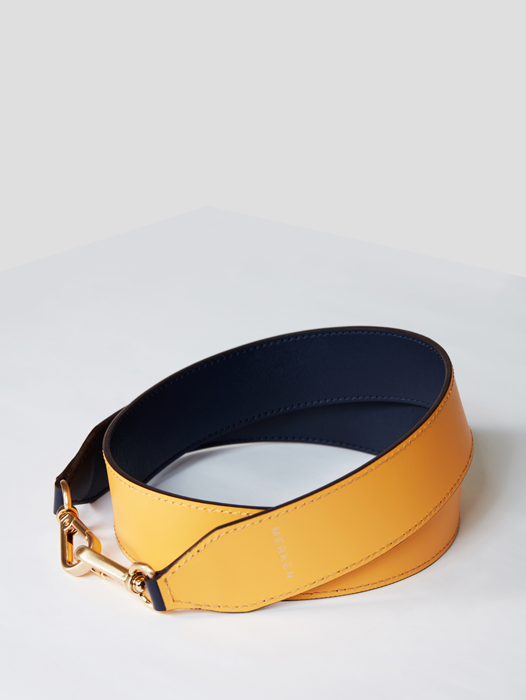 Double Strap Navy / Yellow