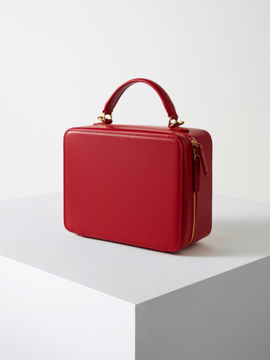 Square Bag--Firenze Red(B grade)