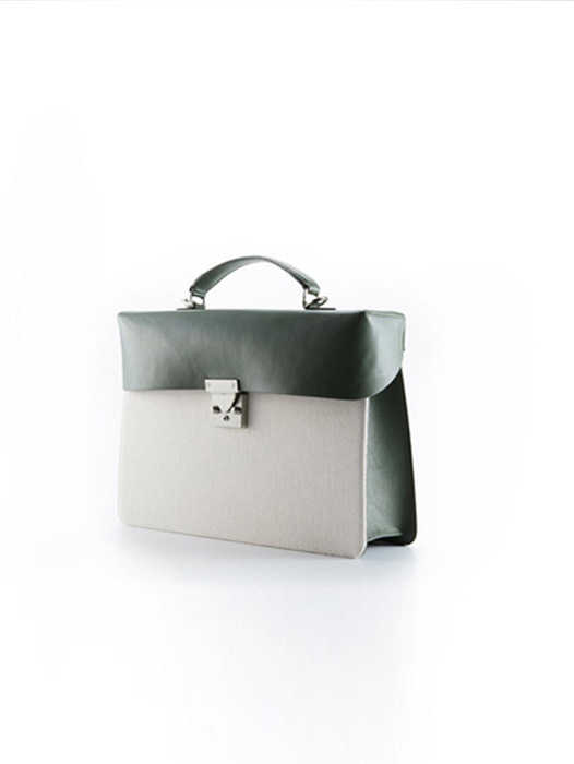 Box Bag - Moss Green Canvas