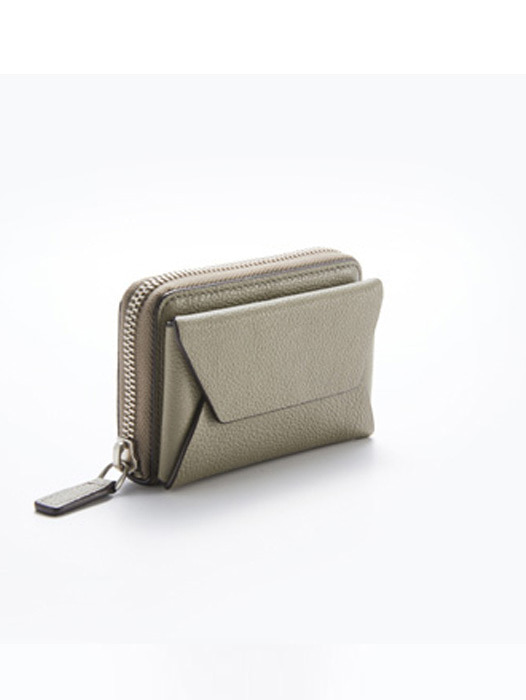 Peacock Pocket - Champagne Khaki / Light grey